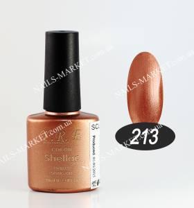 Гель-лак YRE/Bluesky 10мл №213 золотисто-коричневый, перламутровый