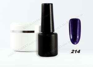 Гель-лак на розлив 5г №214 фиолетовый с синим микроблеском