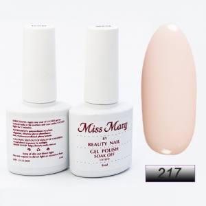Гель-лак Miss Mary 8ml № 217 ( бело-розовый )