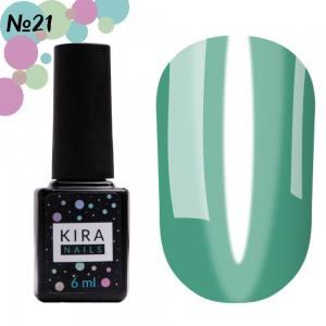 Гель-лак Kira Nails Vitrage №V21 (морская волна, витражный), 6 мл