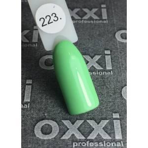 Гель-лак OXXI Professional №223 (светло-зеленый, эмаль), 8 мл