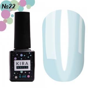 Гель-лак Kira Nails Vitrage №V22 (нежно-голубой, витражный), 6 мл