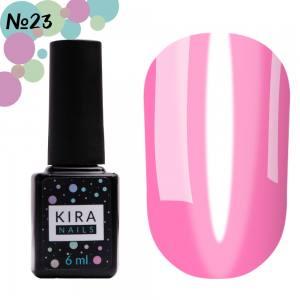 Гель-лак Kira Nails Vitrage №V23 (фуксия, витражный), 6 мл