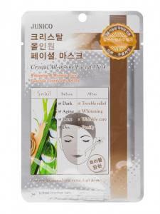 Тканевая маска с улиткой Mijin Junico Crystal All-in-one Facial Mask Snail  25 мл