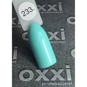 Гель-лак OXXI Professional №233 (светло-зеленый, зеленая мята, эмаль), 8 мл