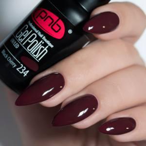 Гель-лак PNB Black Cherry 234 вишнево-шоколадный
