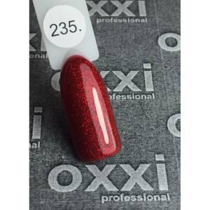 Гель-лак OXXI Professional №235 (красный микроблеск), 8 мл