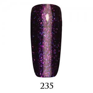 Гель-лак ADORE Professional №235 (фиолетовый с разноцветными блестками), 7,5 мл