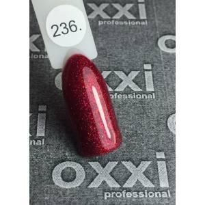 Гель-лак OXXI Professional №236(вишневый микроблеск), 8 мл