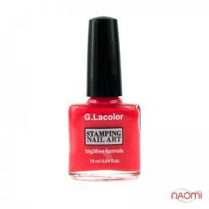 Лак-краска для стемпинга G.Lacolor №5 кораллово-красный