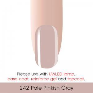 Гель-лак Canni 7мл  №242 бледный розовато-серый
