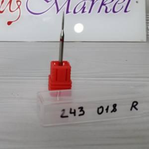 Фреза алмазная пламя 243-018R  диаметр 1.8мм, красная