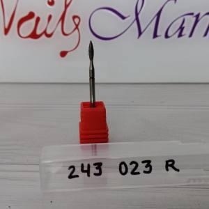 Фреза алмазная пламя 243-023R  диаметр 2.3мм, красная