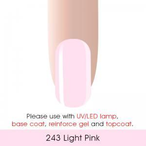 Гель-лак Canni 7мл  №243 нежный розовый