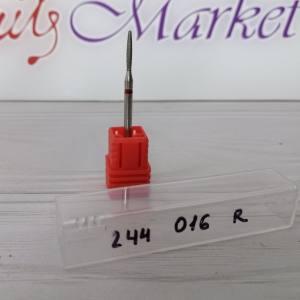 Фреза алмазная пуля 244-016R диаметр 1.6мм, красная