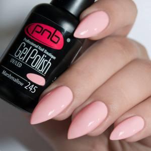 Гель-лак PNB Marshmallow 245 8мл, зефирно-розовый