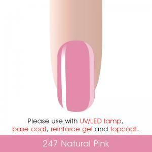 Гель-лак Canni 7мл  №247 натуральный розовый