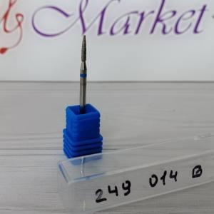 Фреза алмазная цилиндр, стрельчатый конец 249-014B диаметр 1.4мм, синяя