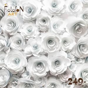 Фотофон виниловый 30см/30см Белые Розы 249