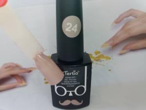 Гель-лак Tertio Baffo 10мл №24 розово-серый