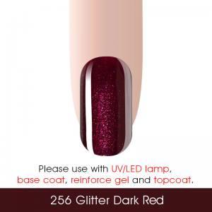 Гель-лак Canni 7мл  №256 глиттерный темно-красный
