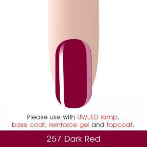 Гель-лак Canni 7мл  №257 темно-красный