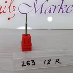 Фреза алмазная почка закругленная 263-018R диаметр 1.8мм, красная