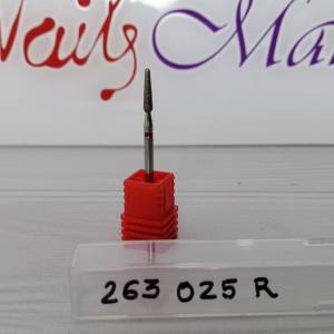 Фреза алмазная почка закругленная 263-025R диаметр 2.5мм, красная