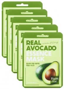 Тканевая маска для лица с авокадо FARMSTAY REAL AVOCADO ESSENCE MASK 23 мл