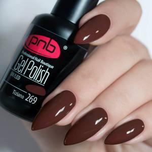 Гель-лак PNB Tiziano 269 8мл темный рыжевато-коричневый