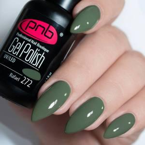 Гель-лак PNB Rafael 272 8мл оливково-зеленый