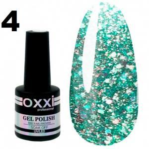 Гель-лак Oxxi STAR GEL №004 - мятный, с блестками и слюдой, 8 мл