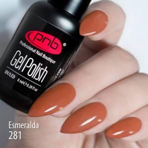 Гель-лак PNB Esmeralda 281 8мл коричнево-морковный