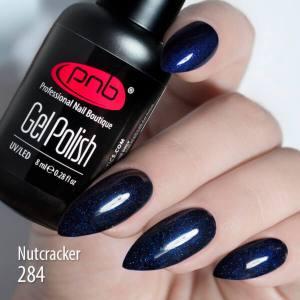 Гель-лак PNB Nutcracker 284 8мл темно-синий с шиммером