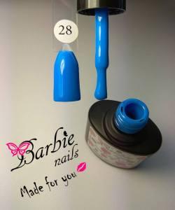 Гель-лак Barbie Nails №28 насыщенный голубой