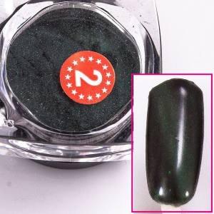 Магнитный пигмент кошачий глаз  Beauty nail №2 зеленый