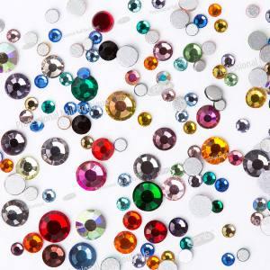 Стразы PNB разноцветные, микс размеров, стекло 1440шт