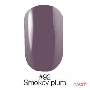 Гель-лак Naomi Gel Polish 92 - Smokey Plum, 6 мл дымчатая слива