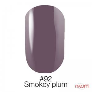 Гель-лак Naomi Gel Polish 92 - Smokey Plum, 6 мл дымчатая слива