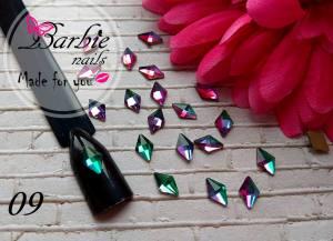 Стразы фигурные стекло BarbieNails 1шт №9