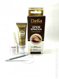 Крем-краска для бровей с маслом арганы Delia Cosmetics Eyebrow color cream 3.0 Темно-коричневый