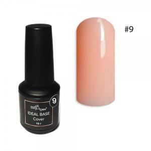Цветная база Ideal Base Nailapex #9 Персик 15мл