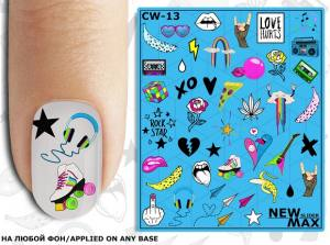 Слайдер-дизайн для ногтей New Max CW-13