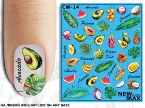 Слайдер-дизайн для ногтей New Max CW-14