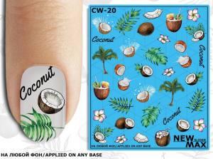 Слайдер-дизайн для ногтей New Max CW-20