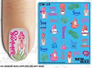 Слайдер-дизайн для ногтей New Max CW-19