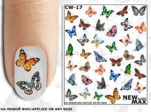 Слайдер-дизайн для ногтей New Max CW-17