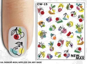 Слайдер-дизайн для ногтей New Max CW-15