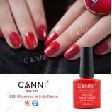 Гель-лак Canni №210 кроваво-красный с шиммером