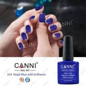 Гель-лак для ногтей Canni №214 королевский синий с микроблеском 7.5мл